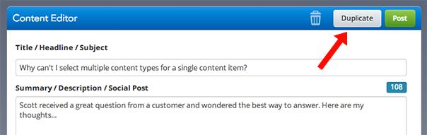 DivvyHQ Content Editor Duplicate Button