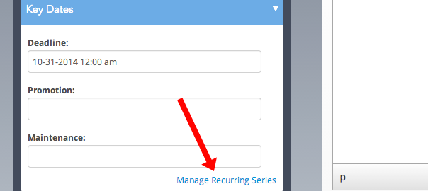 Manage your recurrence settings.