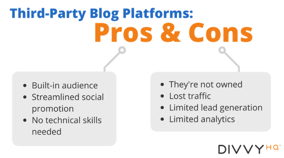 The Pros & Cons of Third-Party Blogging Platforms