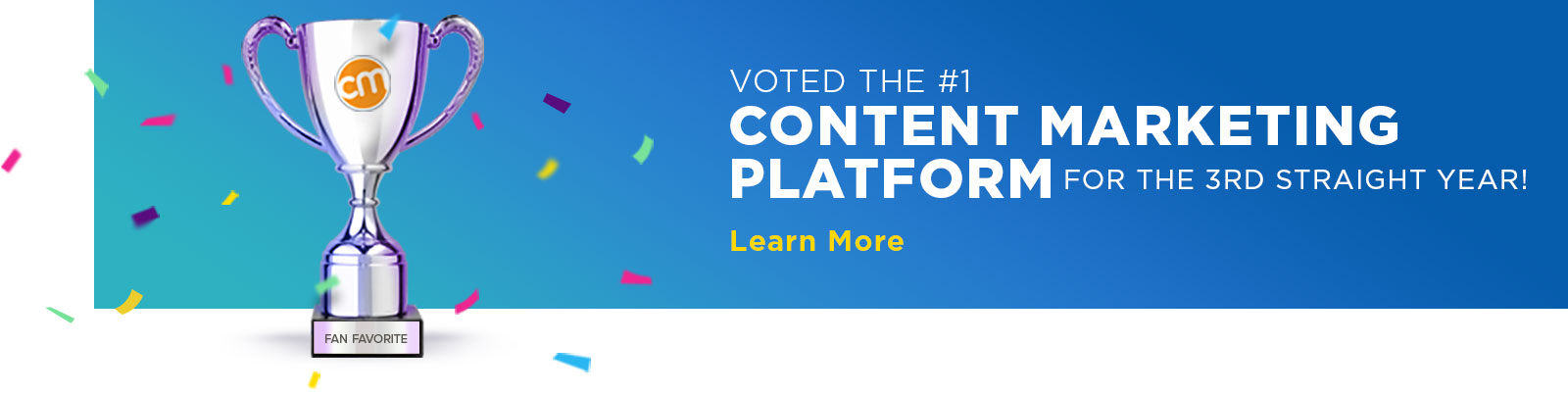 Voted the #1 Content Marketing Platform