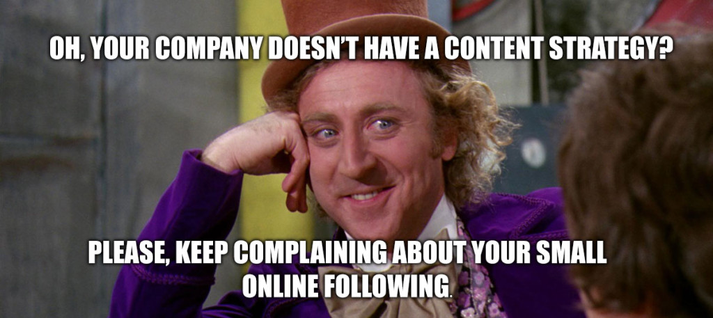 Willy Wonka - No documented content marketing strategy?
