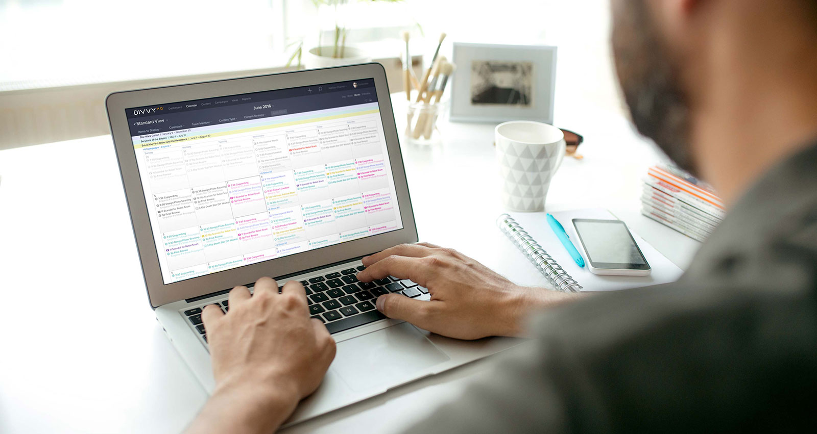 use a content calendar to help manage your content production workflow