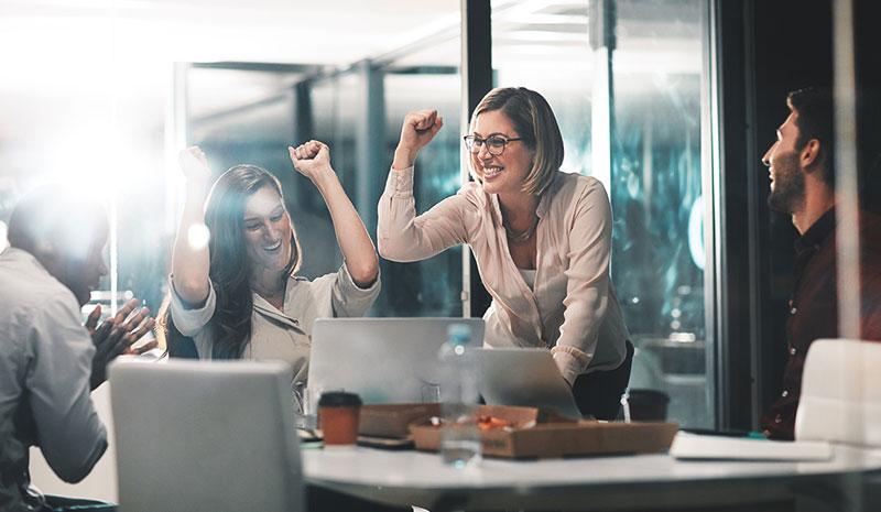 content marketing roi - celebrate wins