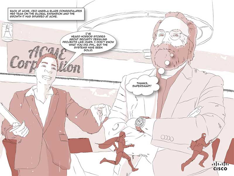 B2B Content Marketing Examples - Cisco SuperSmart Security Graphic Novel